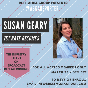ALL ACCESS MEMBERS – Join us THIS THURSDAY (3/23) for an exclusive #AskAReporter with Susan Ge