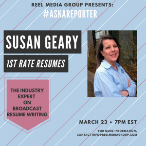 Reminder … TONIGHT !!!! #AskAReporter Susan Geary