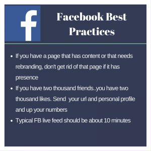 Incase you missed our Facebook best practices event, check out a couple tips from the closed call! F