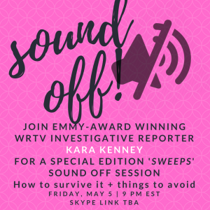 "Special edition ""SWEEPS"" sound off with WRTV Investigative Reporter Kara Kenney THIS FRI"