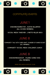 Hi everyone! We have some very exciting events planned for June, like the launch of our 'Socia