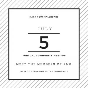 Our community is growing! Join us next week for a community-wide meet up to get to know the members