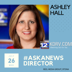 TOMORROW! Our #AskANewsDirector series continues with an exclusive conversation with Ashley Hall, ND