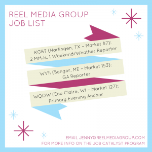 New job openings sent in today! DM me if you want to join the Job Program and have your reel sent di