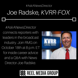 #AskANewsDirector is back! Joe Radske from KVRR will be joining us for a skype discussion next Wedne
